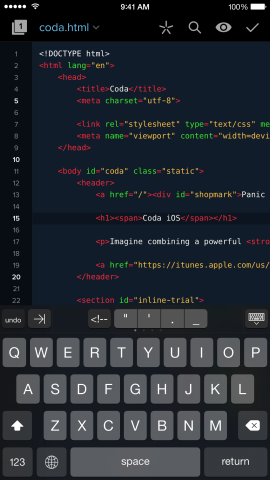 The best web coding tool you'll get for iPhone—but iPhone holds it back.