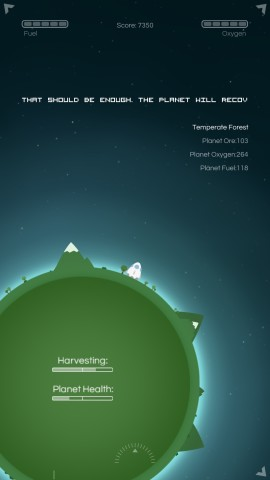 The aim of the game in Last Horizon is to terraform planets in order to help the human race survive.