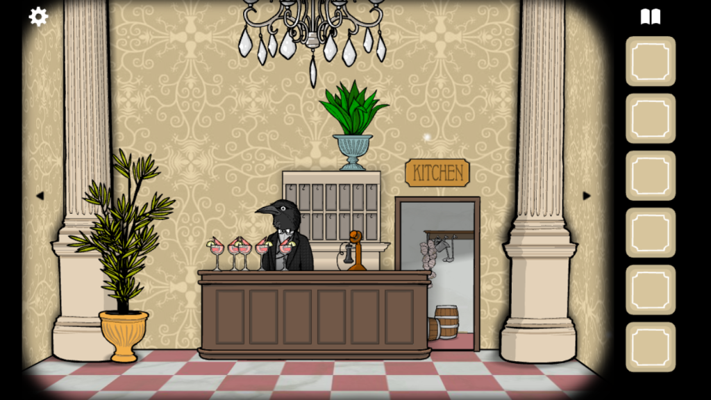 Mr Crow may be the concierge but he doesn't provide much help beyond a high-pitched caw.