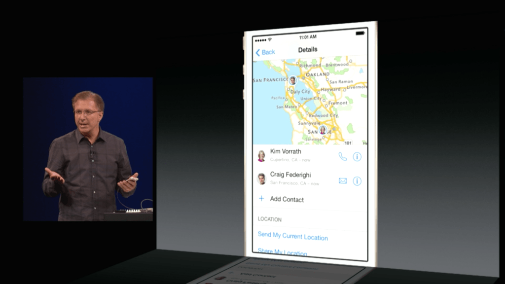 Share your location in the iOS 8 Messages app