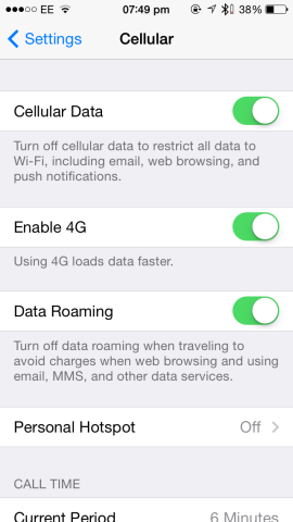 A more drastic solution, of course, is to disable cellular data outright!