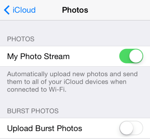 Photo Stream might be convenient, but it's likely eating into your cellular data quota.