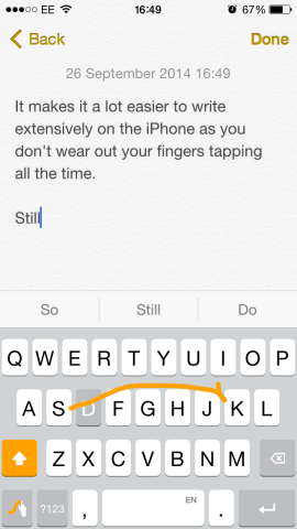 Swype's a lot easier on your tapping fingers