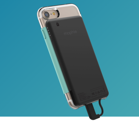 Mophie's charger pack can be removed so the case isn't always so bulky