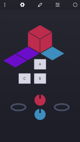 Create shapes, groups, and dials and place them wherever you like on the Surface area