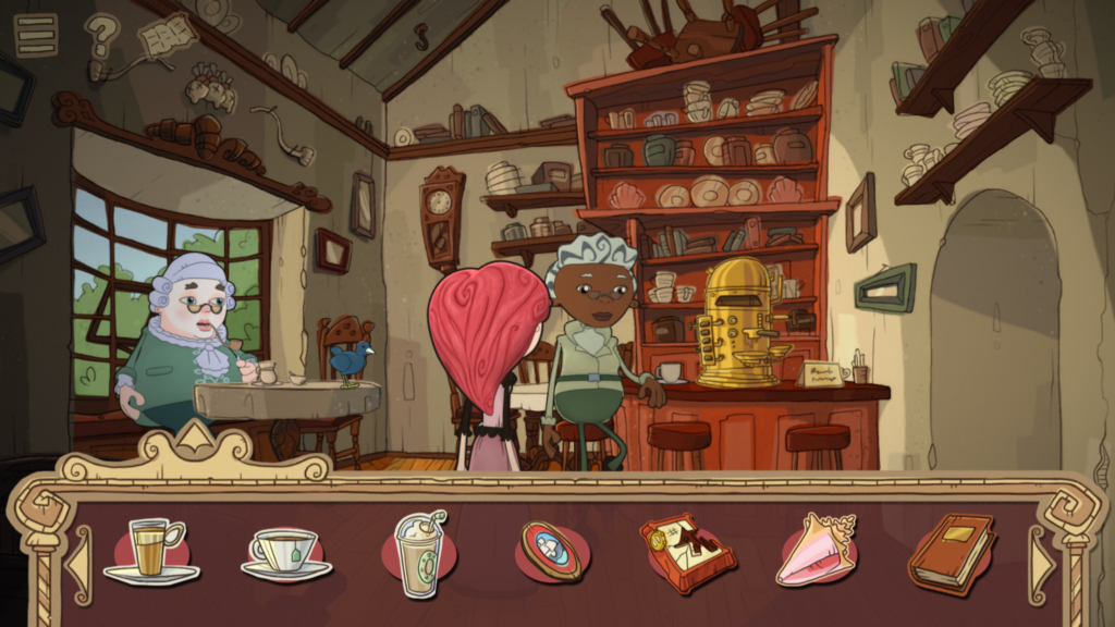 Use the objects in your inventory to solve puzzles and progress